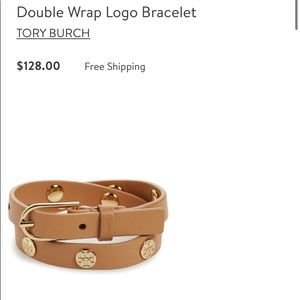 Tory Burch leather double wrap